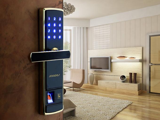 智能门锁属于物联网的一部分,现在智能家居通过继承模块将家庭的电器件连接,在智能手机上实现控制的功能。 通过射频识别(RFID)、红外感应器、全球定位系统、激光扫描器等信息传感设备,按约定的协议,把任何物品与互联网相连接,进行信息交换和通信,以实现智能化识别、定位、跟踪、监控和管理的一种网络概念。 智能门锁因此在时代的趋势下应运而生。   智能锁特点 便利性(convenience): a。智能锁区别于一般的机械锁,具有自动电子感应锁定系统,他会自动感应到门处于关闭状态时,系统将自动上锁。智能锁可以通过指纹