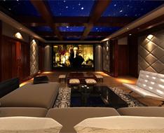 上海绿城玫瑰园别墅智能控制系统影院案例