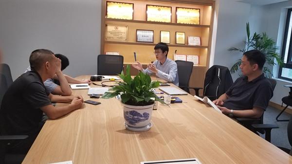 路创厂商来昌骏科技进行技术交流与培训
